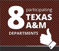 8 participating Texas A&M departments